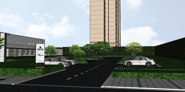 浙江新中式万象府示范区建筑和景观模型设计_5