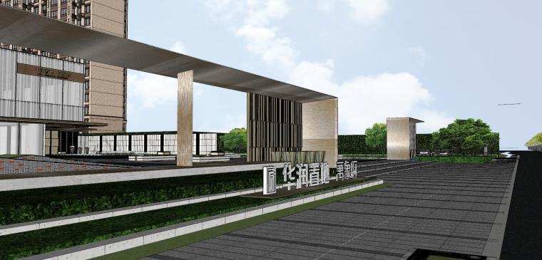浙江新中式万象府示范区建筑和景观模型设计_4