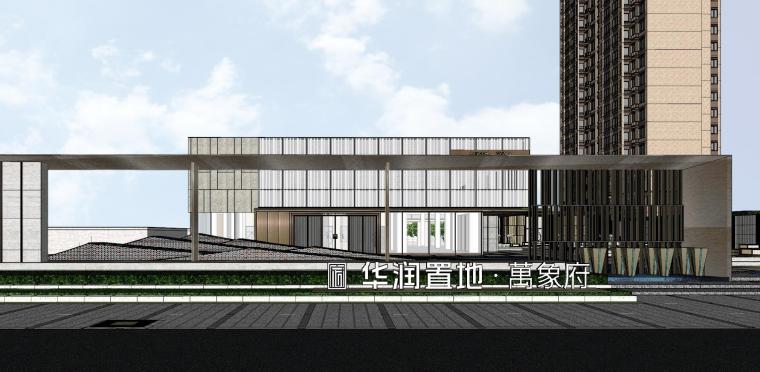 浙江新中式万象府示范区建筑和景观模型设计_14