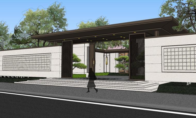 龙湖紫宸样板区建筑和景观模型设计_2
