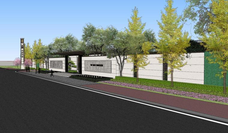 龙湖紫宸样板区建筑和景观模型设计_1