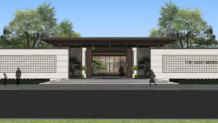 龙湖紫宸样板区建筑和景观模型设计_4