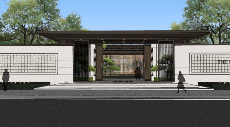 龙湖紫宸样板区建筑和景观模型设计_3