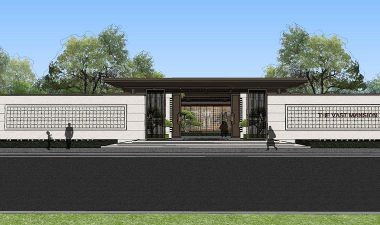 龙湖紫宸样板区建筑和景观模型设计_5