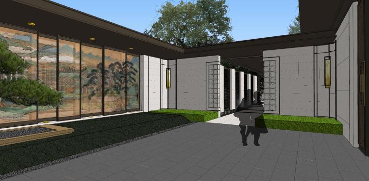 龙湖紫宸样板区建筑和景观模型设计_9