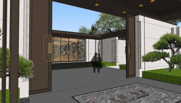 龙湖紫宸样板区建筑和景观模型设计_7