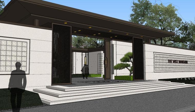 龙湖紫宸样板区建筑和景观模型设计_6