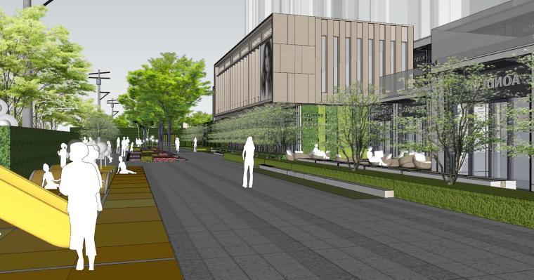 现代风格展示区建筑和景观模型设计_8