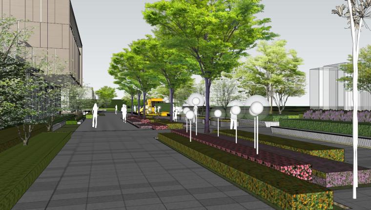 现代风格展示区建筑和景观模型设计_4