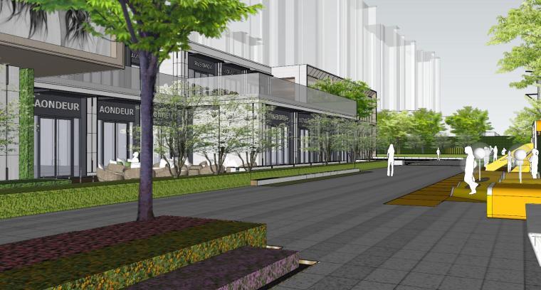 现代风格展示区建筑和景观模型设计_7