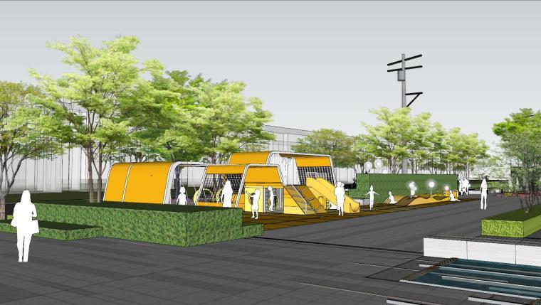 现代风格展示区建筑和景观模型设计_10