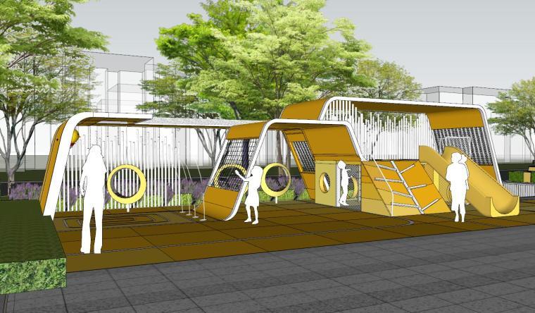 现代风格展示区建筑和景观模型设计_2
