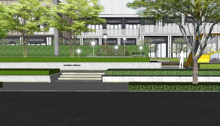 现代风格展示区建筑和景观模型设计_3