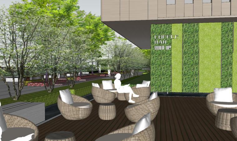 现代风格展示区建筑和景观模型设计_6