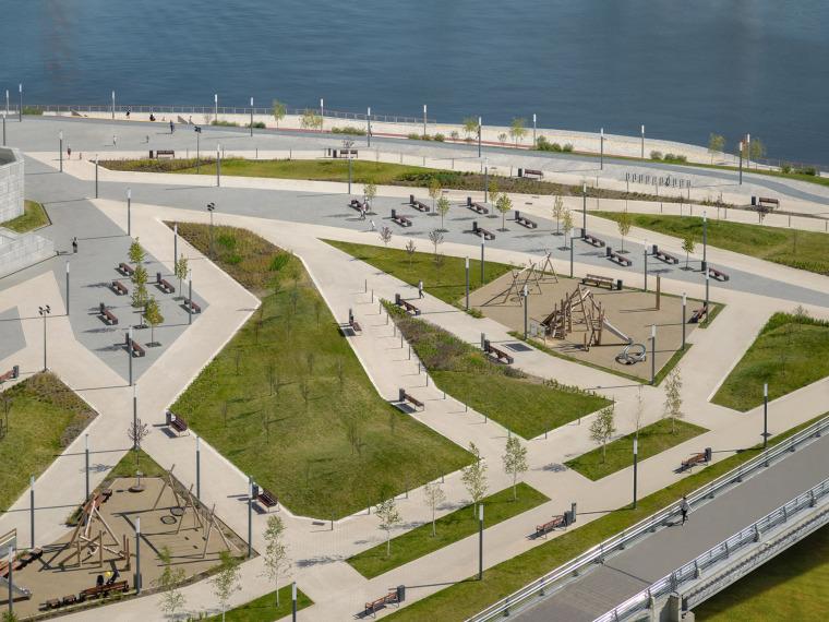 俄罗斯高密度住宅区堤岸景观规划_2