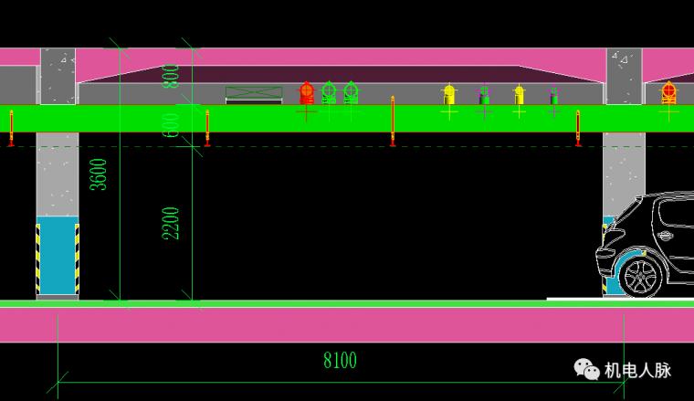 BIM案例解析,地下车库层高3400的可行性_4