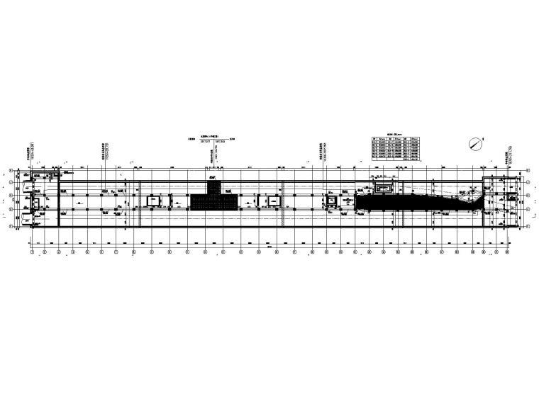 [重庆]四跨三层地铁站框架结构施工图2020_2