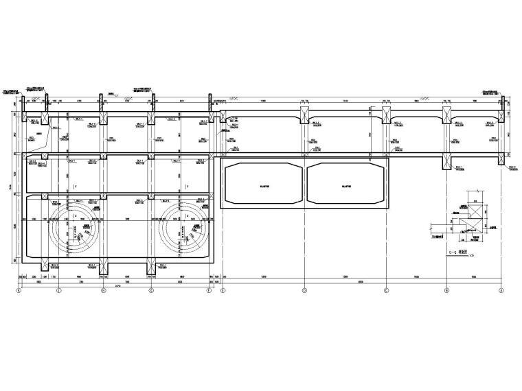 [重庆]四跨三层地铁站框架结构施工图2020_5
