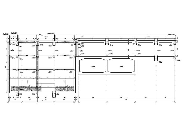 [重庆]四跨三层地铁站框架结构施工图2020_4
