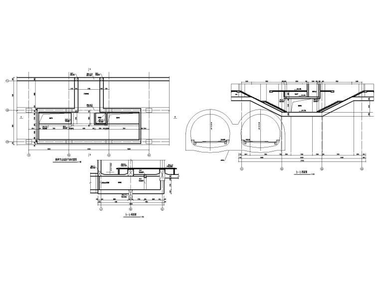 [重庆]四跨三层地铁站框架结构施工图2020_7
