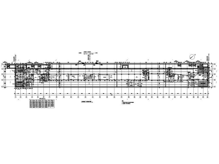 [重庆]四跨三层地铁站框架结构施工图2020_3