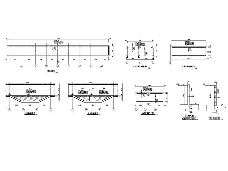 [重庆]四跨三层地铁站框架结构施工图2020_6
