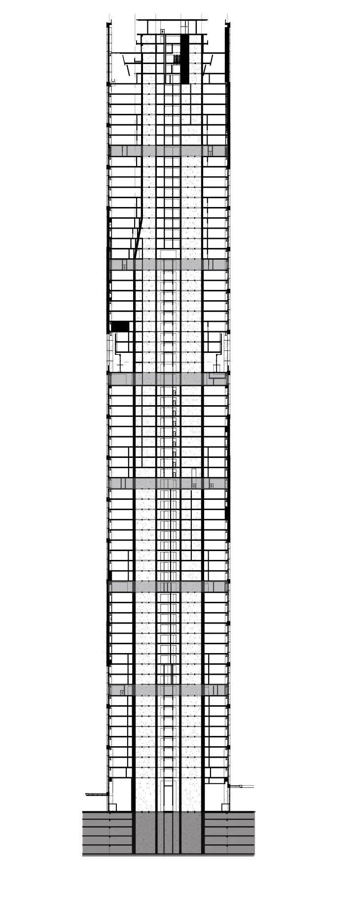 '天津中海国际中心',模块化波浪表皮_25