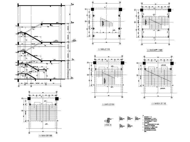 高层框架剪力墙教学楼结构施工图2018,150张_10