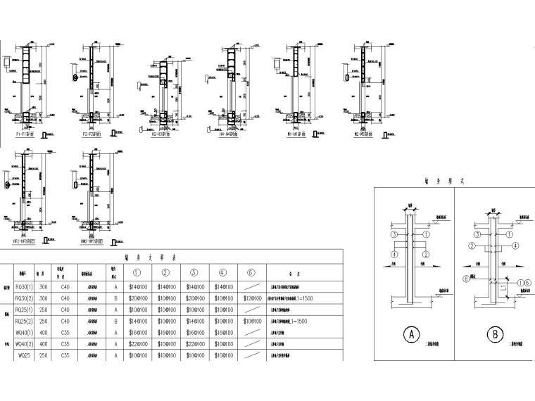 高层框架剪力墙教学楼结构施工图2018,150张_8