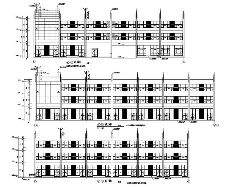 某多层住宅外立面幕墙施工图CAD_1