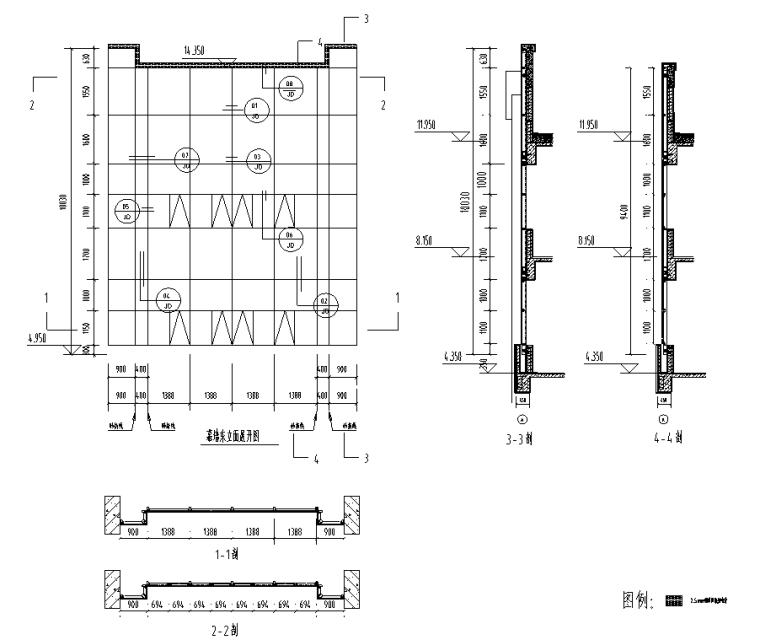 某多层住宅外立面幕墙施工图CAD_2