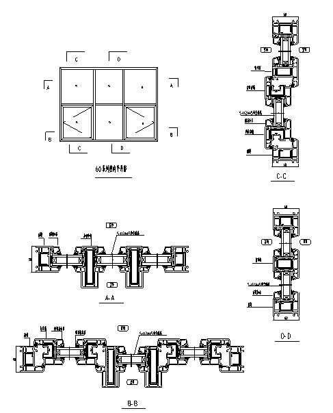某多层住宅外立面幕墙施工图CAD_5