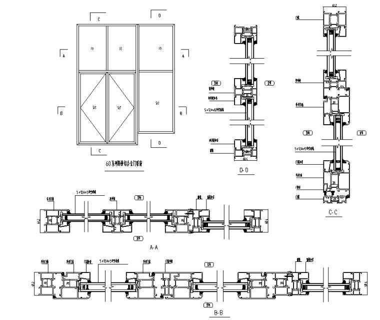 某多层住宅外立面幕墙施工图CAD_3