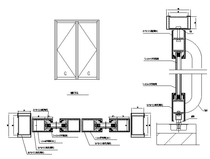 某多层住宅外立面幕墙施工图CAD_4
