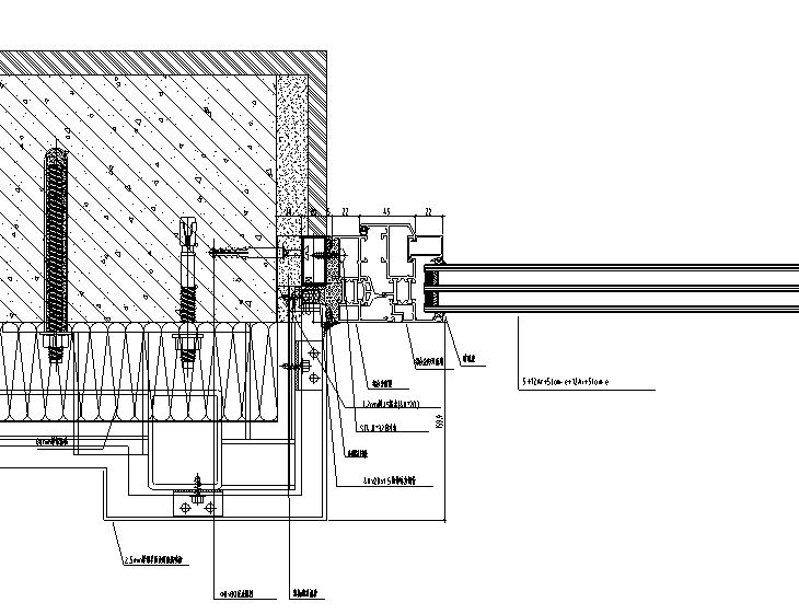 某高层公寓外立面幕墙施工图CAD_3