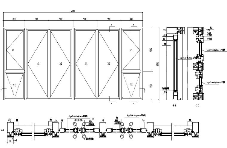 某高层公寓外立面幕墙施工图CAD_6