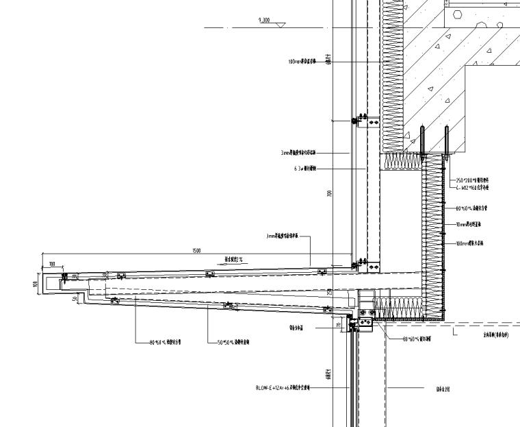 某商业街二层商业幕墙施工图CAD含详细节点_6