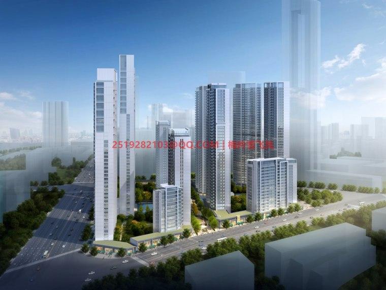 [武汉]现代典雅高层住宅设计模型SKP(gad)_3