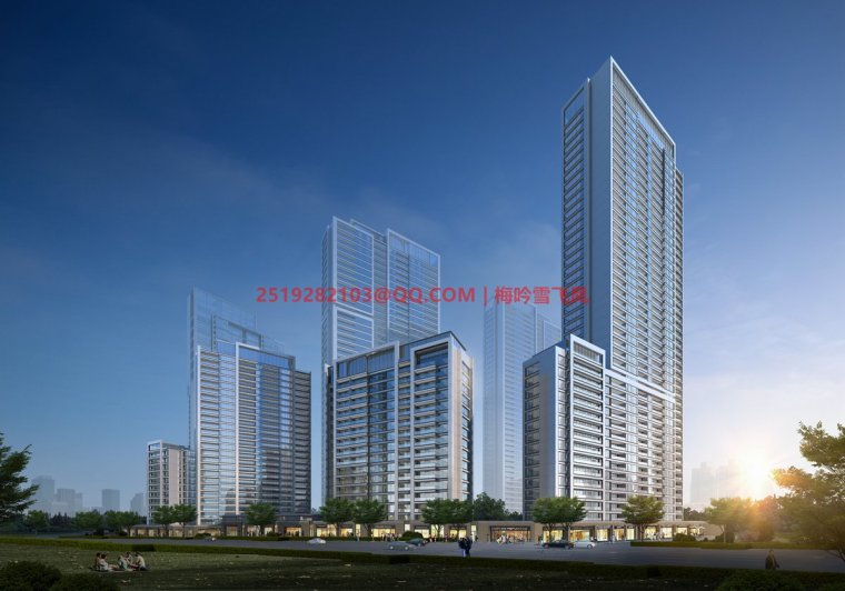 [武汉]现代典雅高层住宅设计模型SKP(gad)_4