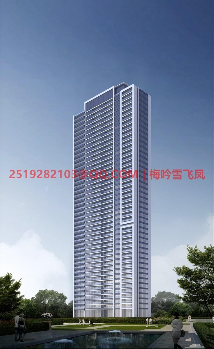 [武汉]现代典雅高层住宅设计模型SKP(gad)_13