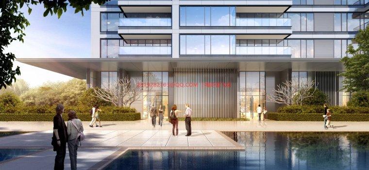 [武汉]现代典雅高层住宅设计模型SKP(gad)_11