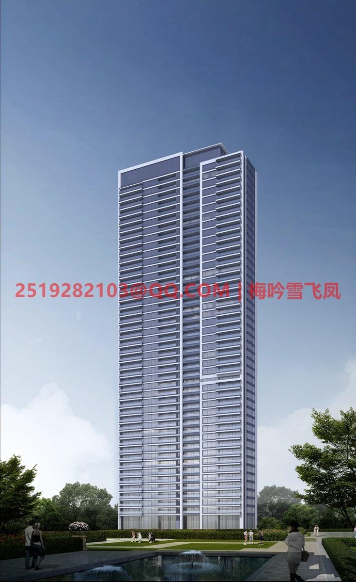 [武汉]现代典雅高层住宅设计模型SKP(gad)_14