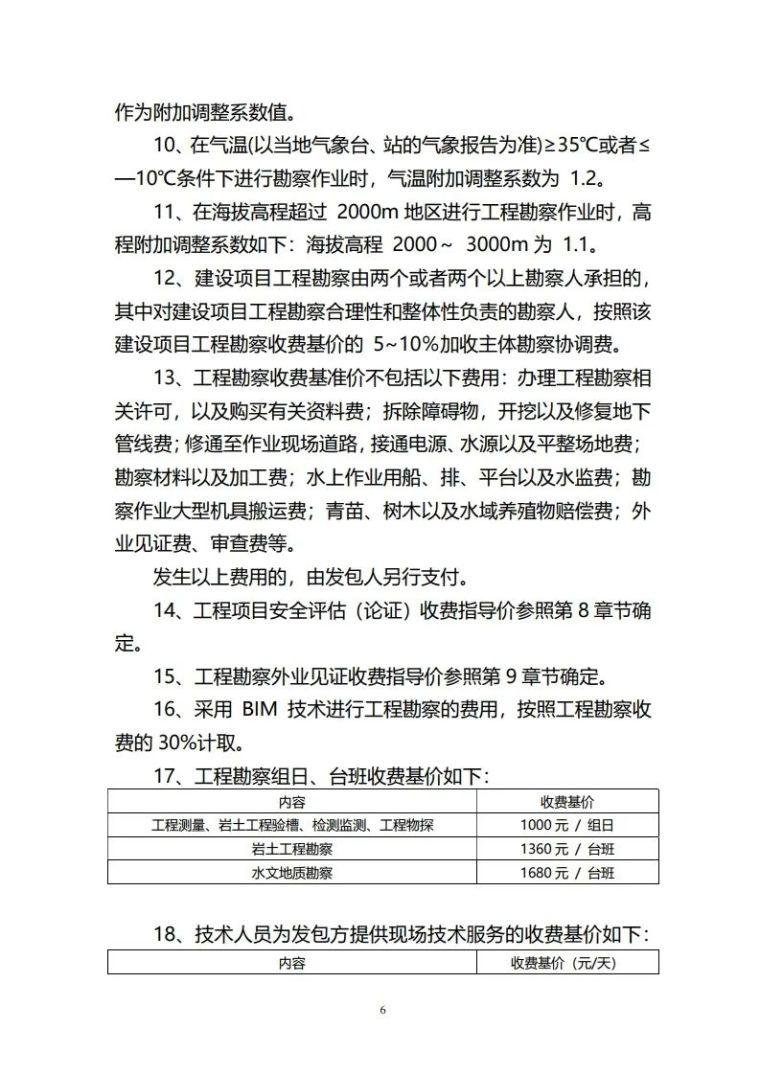重庆市建筑市政工程勘察设计收费指导价新版_6