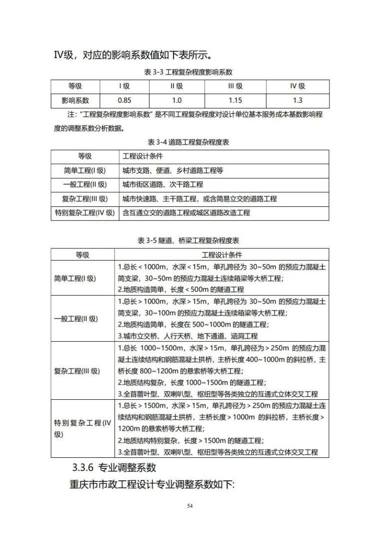 重庆市建筑市政工程勘察设计收费指导价新版_54
