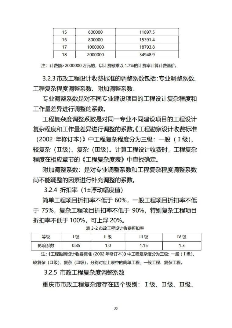 重庆市建筑市政工程勘察设计收费指导价新版_53