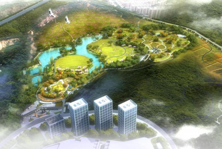 [湖北]现代运动旅游小镇山体公园设计方案_2