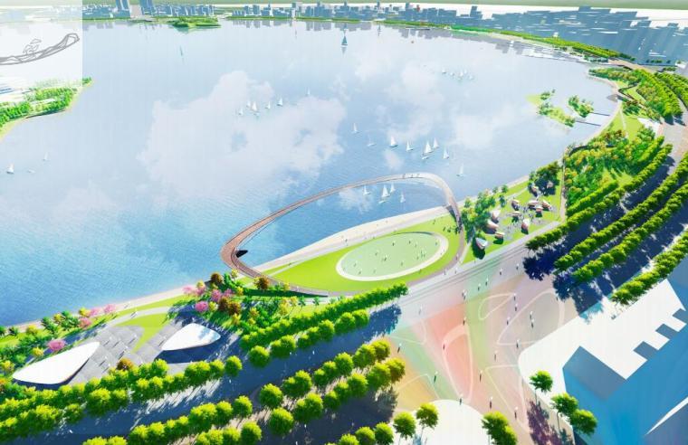 [上海]现代风格滴水湖公园景观概念方案设计_1
