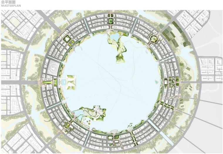 [上海]现代风格滴水湖公园景观概念方案设计_2