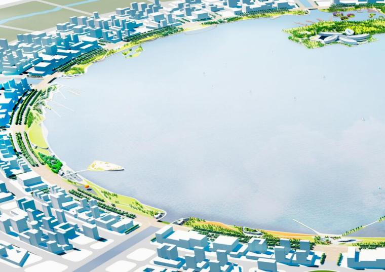 [上海]现代风格滴水湖公园景观概念方案设计_3