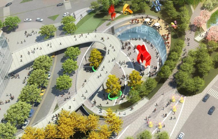 中央服务区核心道路及地下空间景观方案1_2